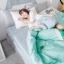 ผ้าปูที่นอน ลายไอติม สีเขียว-เทา thumbnail 2