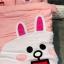 ผ้าปูที่นอน ลายกระต่ายโคนี่ หมีบราวน์ เนื้อผ้าคอตตอนซาติน thumbnail 5