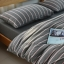ผ้าปูที่นอน สีพื้น ลายทาง เนื้อผ้าถักนิตติ้ง KnittedCotton thumbnail 3