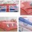 ผ้าปูที่นอนลายการ์ตูนหมีขับรถ ธงชาติอังกฤษ สีแดง thumbnail 2