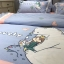 ผ้าปูที่นอนลายหมีขาว สีฟ้า งานปัก thumbnail 4