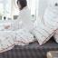 ผ้าปูที่นอนลายตัวหนังสือ ลายสก๊อต สีขาว-ดำ thumbnail 5