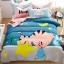 ผ้าปูที่นอน ลายแมวน้อย สีฟ้า-ชมพู thumbnail 1