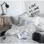 ผ้าปูที่นอน ลายสวยสีขาว-ดำ-เทา ลายกราฟฟิก thumbnail 2