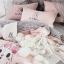 ผ้าปูที่นอนลายกระต่าย สก๊อตสีขาว-ดำ งานปัก thumbnail 2