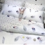 ผ้าปูที่นอน ลายขนนก ลายจุดสีเทา-ขาว thumbnail 1