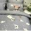 ผ้าปูที่นอน ลายหมีขาว ลายจุด สีเทา thumbnail 3