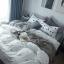 ผ้าปูที่นอน ลายจุด-ชิโนริ สีขาว ดำ thumbnail 3