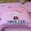 ผ้าปูที่นอนลายกระต่ายน้อย Have Fun ลายตาราง สีแดง-ชมพู thumbnail 5
