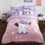 ผ้าปูที่นอนลายแมวชาร์มมิ่ง Kitty สีม่วง-ชมพู thumbnail 1