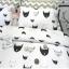 ผ้าปูที่นอน ลายการ์ตูนหน้าแมว ลายหยัก พื้นสีขาว thumbnail 3