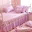 ผ้าปูที่นอนวินเทจ สีม่วง สไตล์เกาหลี เจ้าหญิง thumbnail 7