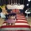 ผ้าปูที่นอนลายหมี 3D ธงชาติสหรัฐ USA thumbnail 2