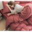 ผ้าปูที่นอน ผ้า Muji เนื้อผ้าถักนิตติ้ง KnittedCotton thumbnail 5