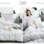 ผ้าปูที่นอนลายกราฟฟิก สีขาว-เทาเข้ม thumbnail 2
