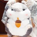 ตุ๊กตาหนูแฮมสเตอร์ Hamster สีเทา