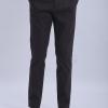 ขาเดฟ ผ้าซาตินยืด สีเทาดำ - Dark Gray