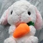 ตุ๊กตากระต่ายน้อยหูยาว สีขาว 40 cm.
