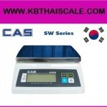 ตาชั่งดิจิตอล เครื่องชั่งดิจิตอล เครื่องชั่งกันน้ำ 2Kg ความละเอียด1g CAS SW-2 ขนาดแท่นชั่ง24.7 X 19.5cm.