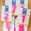 เทียนตัวเลข ราคาส่ง 1แพ็คมี10ชิ้น ตั้งแต่ เลข0-9 สีชมพู ลายดาว