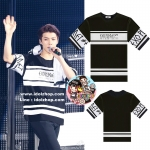 เสื้อยืดแฟชั่น เสื้อคอน EXO luxion'2