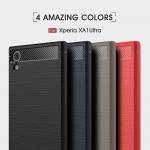 เคสยาง Sony Xperia XA1 Ultra ลาย Carbon Fiber