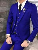 พร้อมเช่า ชุดสูทชาย สีน้ำเงินเข้ารูป (ไม่มีเสื้อกั๊ก)**พร้อมเช่า XL , M , S **