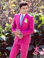 Pre-order ชุดสูทชาย สี Hot Pink