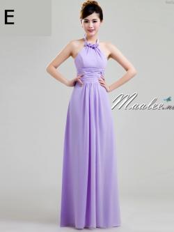 พร้อมส่ง ชุดราตรียาว ชุดเพื่อนเจ้าสาว สีม่วงอ่อน Lavender Lv-002E