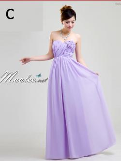 พร้อมส่ง ชุดราตรียาว ชุดเพื่อนเจ้าสาว สีม่วงอ่อน Lavender Lv-002C