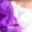 พร้อมเช่า ชุดแฟนซี ชุดราตรียาว ไหล่เฉียงแขนตุ๊กตา สีม่วง ขาว แต่งดอกไม้สามมิติ thumbnail 7
