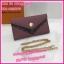 กระเป๋าสตางค์หลุยส์แบบมีสาย Louis wallet on chain **เกรดAAA** เลือกสีด้านในค่ะ thumbnail 4
