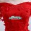 Pre-order ชุดราตรียาว ชุดเพื่อนเจ้าสาว PE-681 สีแดง กระโปรงตาข่าย ตัวชุดแต่งดอก 3 มิติ พร้อมโบว์คาดเอว thumbnail 10