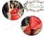 พร้อมเช่า ชุดราตรียาว สีแดง ไหล่เดียว แขนย้วย ผ้าอัดพลีทสวย แต่งเลื่อมช่วงเอว thumbnail 5