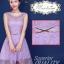 Pre-order ชุดราตรีสั้น เพื่อนเจ้าสาว PE-629 สีม่วงชุดลูกไม้ทั้งชุด (เชือกผูกหลัง) thumbnail 12