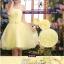 Pre-order ชุดราตรีสั้น ชุดเพื่อนเจ้าสาว หน้าสั้นหลังยาว สีเหลือง Yellow-001 thumbnail 10