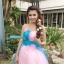 พร้อมเช่า ชุดแฟนซี ชุดราตรียาว เกาะอก สีฟ้า ชมพู สวยหวาน ผ้าโปร่งแต่งดอกไม้ thumbnail 10