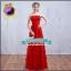 Pre-order ชุดราตรียาว ชุดเพื่อนเจ้าสาว PE-681 สีแดง กระโปรงตาข่าย ตัวชุดแต่งดอก 3 มิติ พร้อมโบว์คาดเอว thumbnail 23
