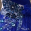 พร้อมเช่า ชุดแฟนซี ชุดราตรียาว สีน้ำเงิน เกาะอกไหล่เดียว แต่งดอกไม้ช่วงบน กระโปรงพองสวย thumbnail 8
