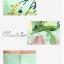 พร้อมเช่า ชุดแฟนซี ชุดราตรีสั้น เกาะอก สีเขียว กระโปรงระบายสีชมพูหวาน อกจับจีบแต่งลายสวย thumbnail 8