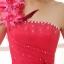 พร้อมเช่า ชุดแฟนซี ชุดราตรียาว ไหล่เฉียง สีชมพู กระโปรงระบายย้วย แต่งดอกไม้ thumbnail 8