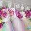 พร้อมเช่า ชุดแฟนซีสั้น แบบเกาะอก แต่งดอกไม้หลากสี กระโปรงสายรุ้ง ชายด้านหลังยาว (ซิปหลัง) thumbnail 12