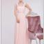 พร้อมเช่า ชุดราตรียาว สีชมพู ปิดไหล่ได้สองแบบ เนื้อผ้าทิ้งตัวสวย แต่งเลื่อม อกและเอว thumbnail 5