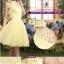 Pre-order ชุดราตรีสั้น ชุดเพื่อนเจ้าสาว หน้าสั้นหลังยาว สีเหลือง Yellow-001 thumbnail 46