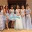 พร้อมเช่า ชุดแฟนซีสั้น สีฟ้า แขนยาว แต่งดอก Fairy สไตล์เจ้าหญิง กระโปรงพองสวยชายย้วย เชือกผูกหลัง thumbnail 16