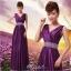 พร้อมเช่า ชุดราตรียาว สีม่วง กระโปรงผ้าซาติน ปักเลื่อมสวยหรู thumbnail 1