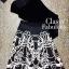พร้อมเช่า Set ชุดออกงาน Body Suit กำมะหยี่ สีดำ คู่กับกระโปรงพิมพ์ลาย ทรงวินเทจ thumbnail 8