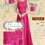 พร้อมเช่า ชุดราตรียาว สีชมพู Hot Pink ปักลูกไม้แต่งเลื่อม ด้านหลังเป็นแบบซีทรู กระโปรงผ้าซาติน ชายยาว thumbnail 9