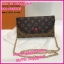 กระเป๋าสตางค์หลุยส์แบบมีสาย Louis wallet on chain **เกรดAAA** เลือกสีด้านในค่ะ thumbnail 8