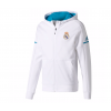 เสื้อแจ็คเก็ตอดิดาสรีลมาดริด Real Madrid Home Anthem Jacket มีฮู้ดสีขาวของแท้